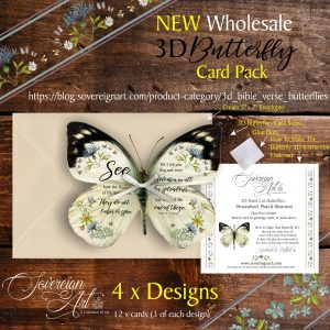 3D Bible Verse Butterfly Wholesale Card Pack Advertising