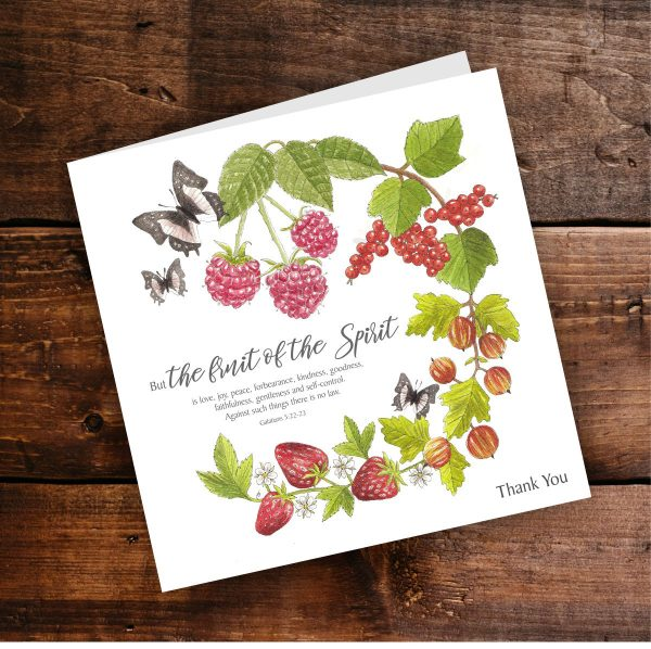 Fruit Of The Spirit Thank you card Background