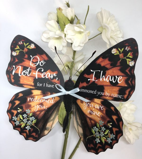 Isaiah 43 v 1 3D Butterfly