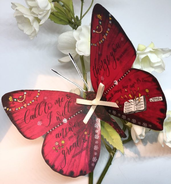 Jeremiah 33 v 3 call to me and I will answer you 3D Butterfly Gift