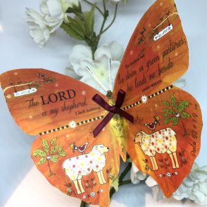 Psalm 23 v 1 - 2 The Lord Is My Shepherd 3D Butterfly Gift 1