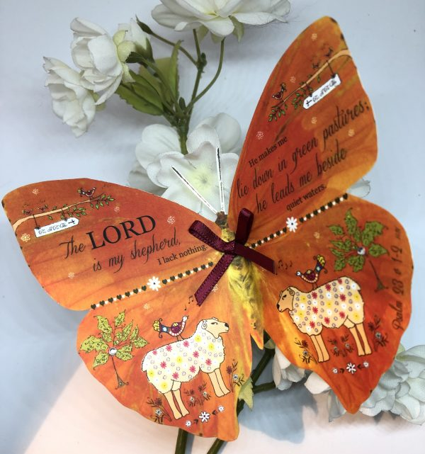 Psalm 23 v 1 - 2 The Lord Is My Shepherd 3D Butterfly Gift