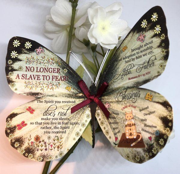 Romans 8 v 15 no longer a slave to fear 3D Butterfly Gift 1