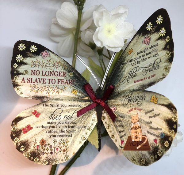 Romans 8 v 15 no longer a slave to fear 3D Butterfly Gift 2