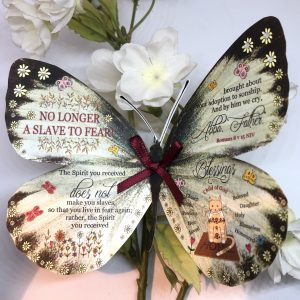 Romans 8 v 15 no longer a slave to fear 3D Butterfly Gift 3