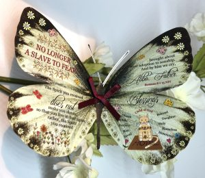 Romans 8 v 15 no longer a slave to fear 3D Butterfly Gift 4