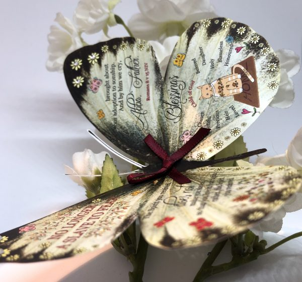 Romans 8 v 15 no longer a slave to fear 3D Butterfly Gift 5