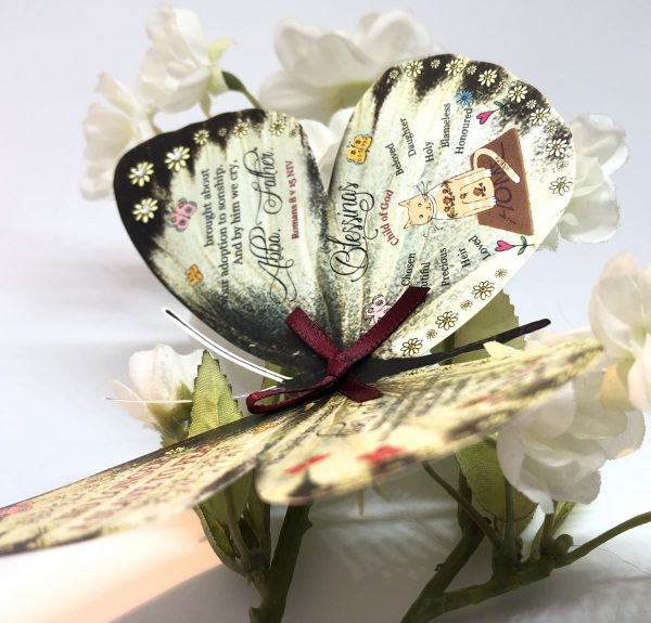 Romans 8 v 15 no longer a slave to fear 3D Butterfly Gift 6