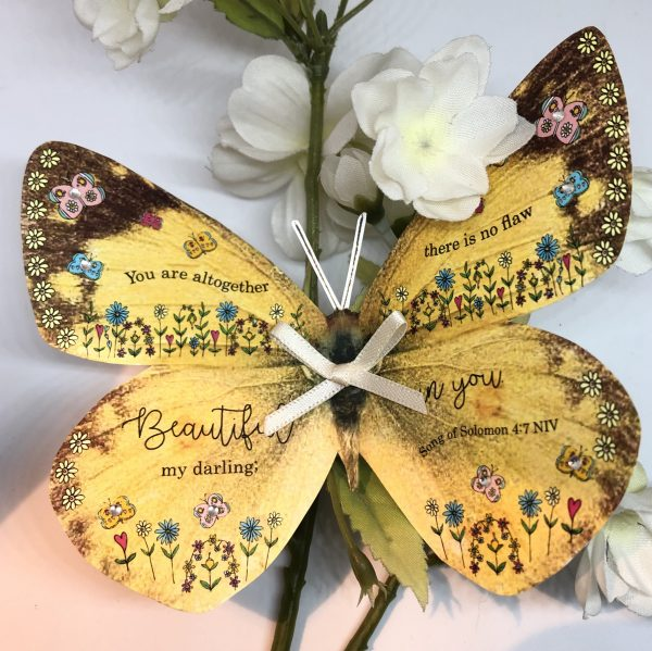 Song of Solomon 4 v 7 you are altogether Beautiful my darling 3D Butterfly Gift